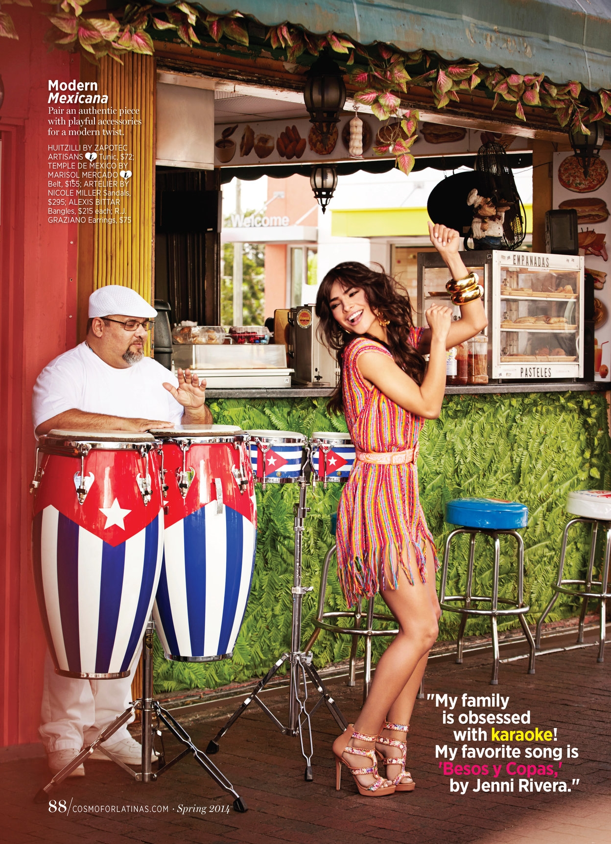 Cosmo Middle East & Cosmo for Latinas   Magazine Celebrity Fashion Feature (Alejandra Espinoza). Photo: Gabrielle Revere.