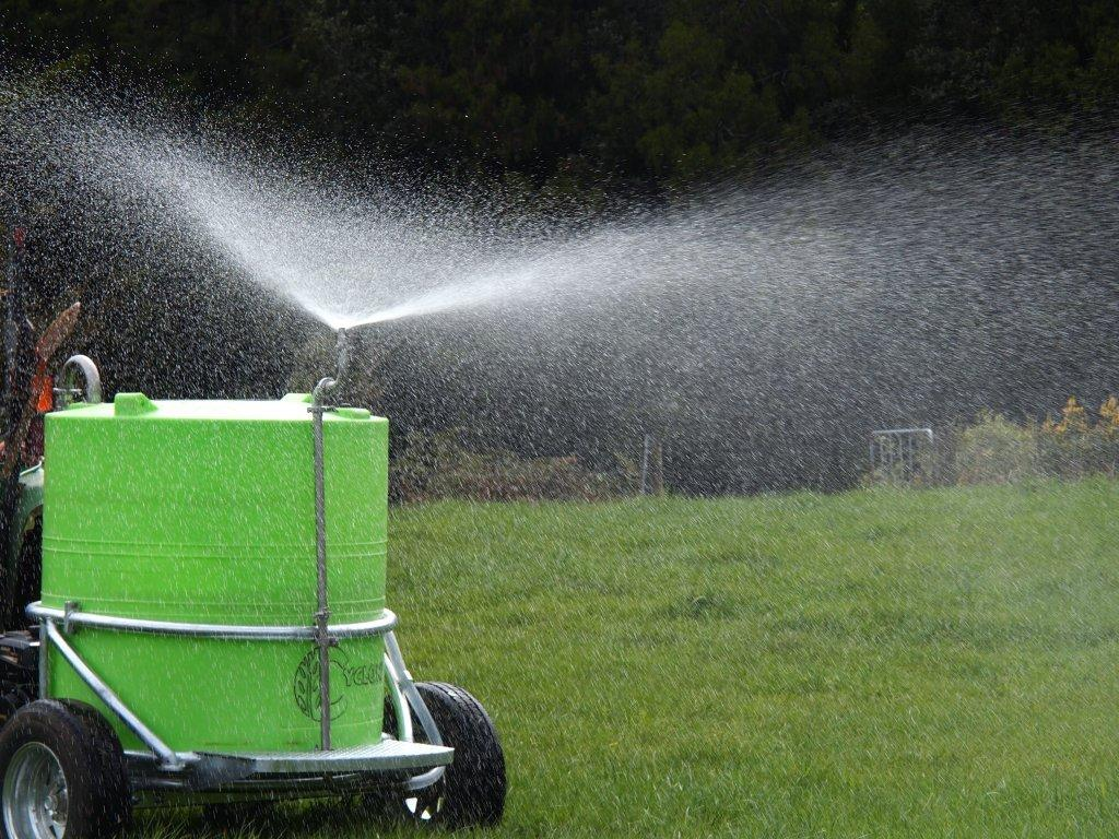 Cyclone Multi-Task Trailer Sprayer for delivering soil nutrition when it suits you