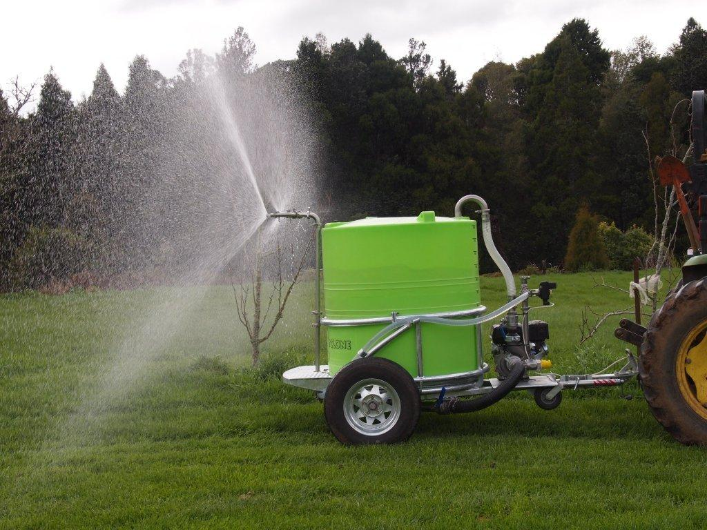 cyclone multi-task 1200 trailer sprayer in use