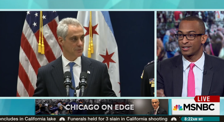 Can Rahm Emanuel hold on to power?   U.S. Attorney General Loretta Lynch announced that the Justice Department is opening a civil rights probe of Chicago's police department. Alderman Carlos Ramirez-Rosa, Dorian Warren, Susan Del Percio and Joy-Ann Reid join to discuss.