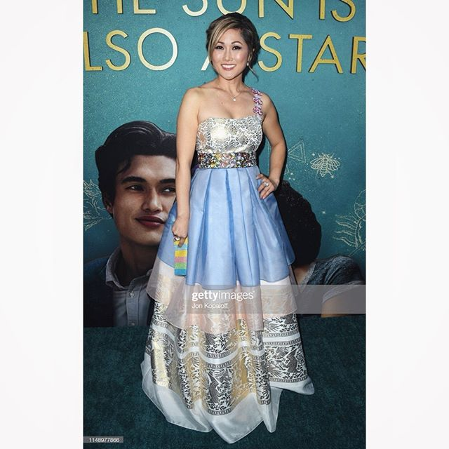 We are so honored to have dressed the beautiful @iamcathyshim for her red carpet appearance on the night of the movie premier for @thesunisalsoastar at @thegrovela last night! 😍❤️ Thank you so much for your desire to show our country's beautiful clothes to the rest of the world. ❣️❣️❣️ #LEEHWA —- #REPOST Last night I chose to honor and celebrate my #Korean heritage and wore a modern Korean hanbok designed by @laurapark123 @leehwawedding The #hanbok is the traditional dress of Korea, much as the kimono is for Japan and the cheongsam is for China, and its creation is a cultural art form. Laura and her daughter Estella are the 4th and 5th generation of this incredible matriarchal lineage (read below for more info). That's right, completely against tradition, this is a Korean family who hopes for daughters 🙌🏻 #whoruntheworld Laura & Estella pulled out all the stops after I chose a personal creation that was sold out and no longer in commission. They ordered fabric from Korea and had this quickly made in just a few weeks time, and I could not be more humbled and honored to wear this on the red carpet ✌🏻🇰🇷💓 #APAHM #AsianPacificAmericanHeritageMonth #itsanhonorjusttobeasian #TheSunIsAlsoAStar #redcarpet #worldpremiere 💫 ps. Putting this on for the first time at fitting with Abby and her giving 👍🏻👍🏻 to mommy's Korean princess dress was everything ❤️ ㄴㄱㄴㄱㄴㄱ