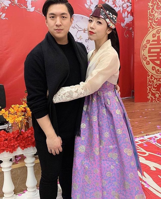 Thankful to have such beautiful clients!!! 😍🥰😍 The stunning @jess_a_unicorn in a modernized hanbok skirt designed and made by #LEEHWA ❣️