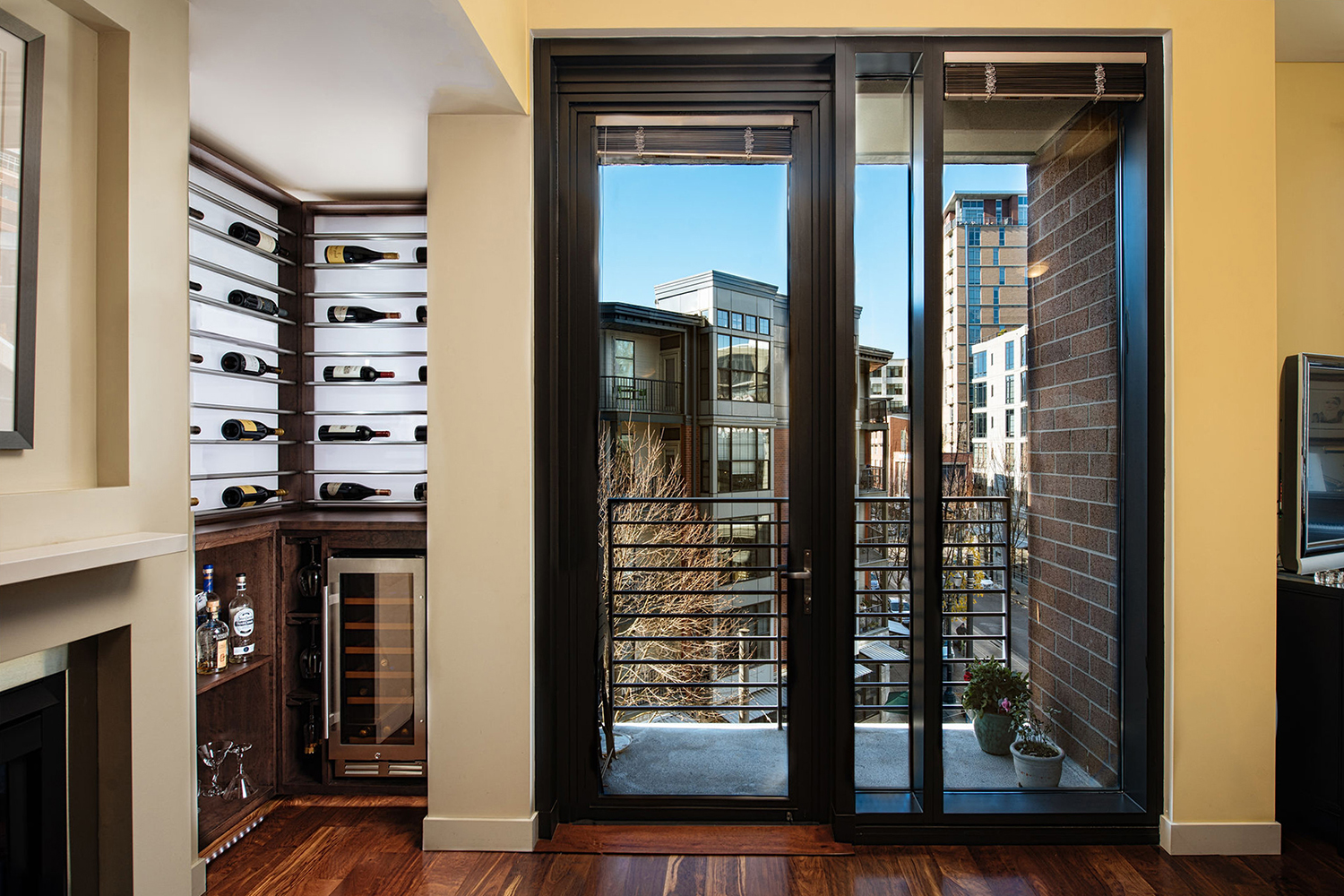 Luxury Wine Storage for a Small Space. Custom wine cellars by Sommi Wine Cellars.