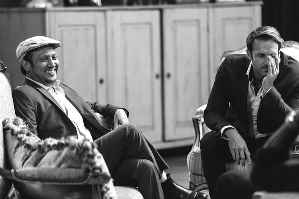 ROB SCHNEIDER & MONTY FRANKLIN on the set of THE MANNY