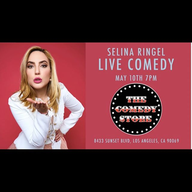 Come watch the amazing Selina Ringel perform stand up @TheComedyStore Friday two weeks from now on MAY 10TH AT 7PM. She is hilarious and is doing new material you have never heard before! Also she might reveal some secrets that could be life changing you never know... ticket link in BIO - buy tickets now - the show will sell out! #selinaringel #writer #actress #comedian #comedy #comedystore