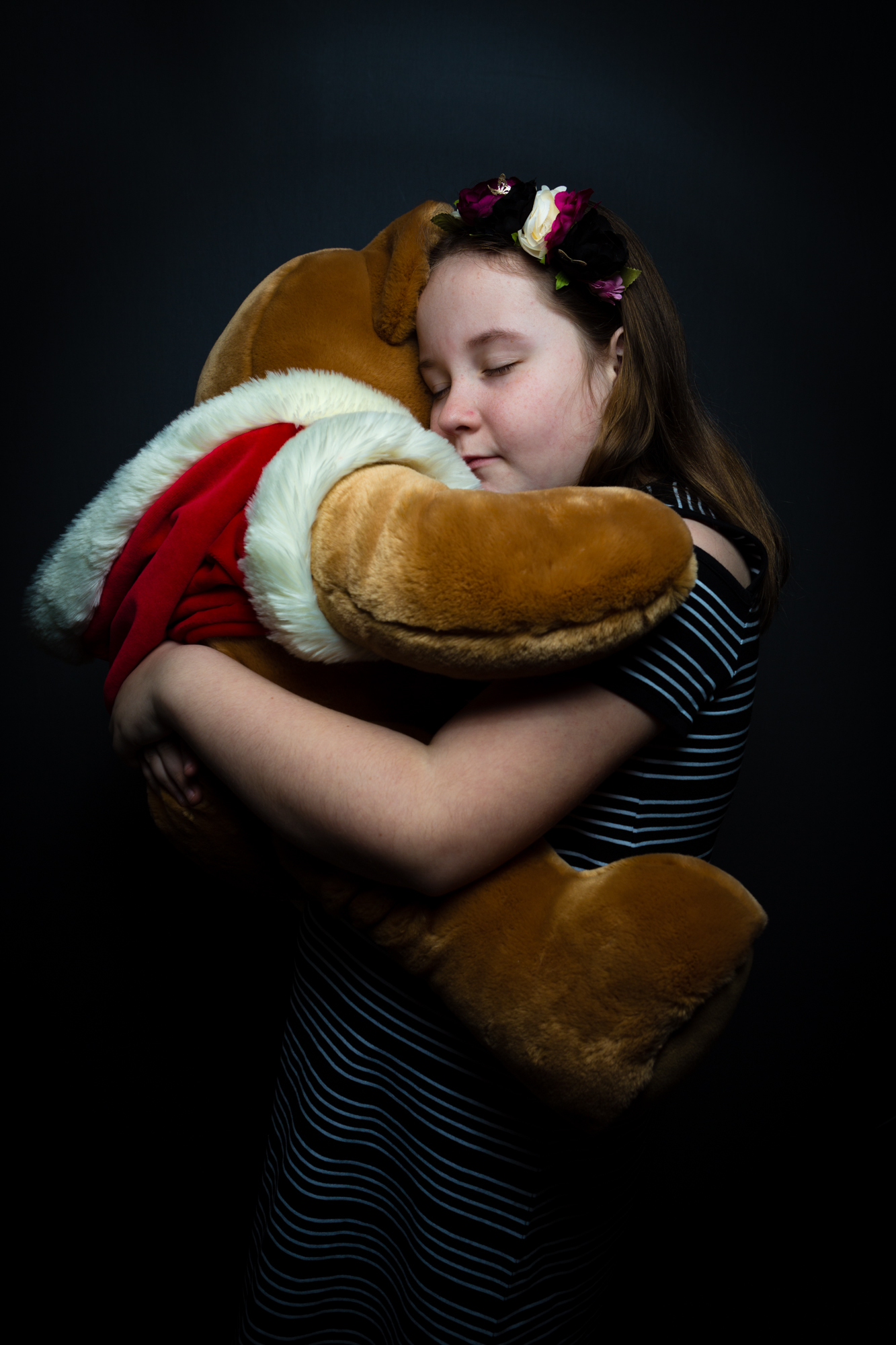 My beautiful daughter, Ashleigh, with the bear she has been photographed with every year since her birth ten years ago.