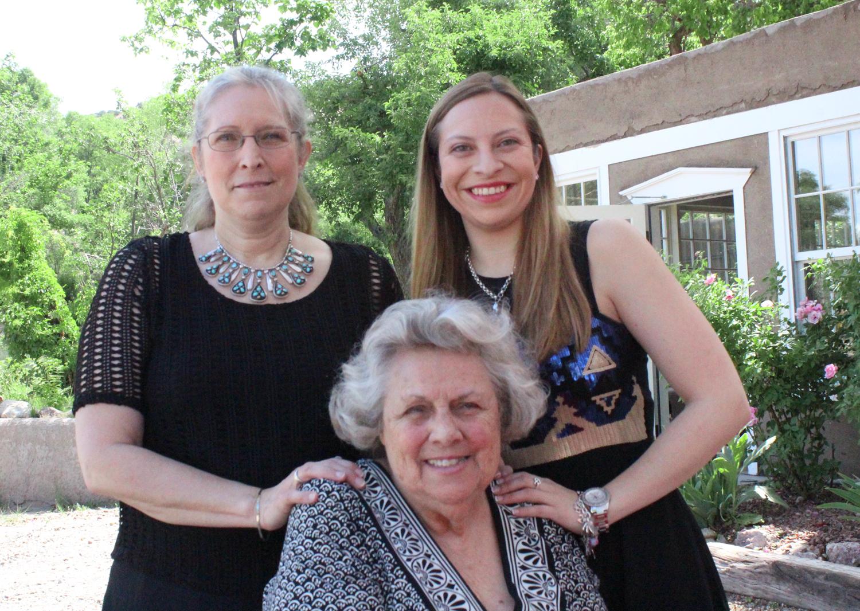 From left to right: Laura Jaramillo Ross, Lauren Jaramillo Ross and Florence Jaramillo.