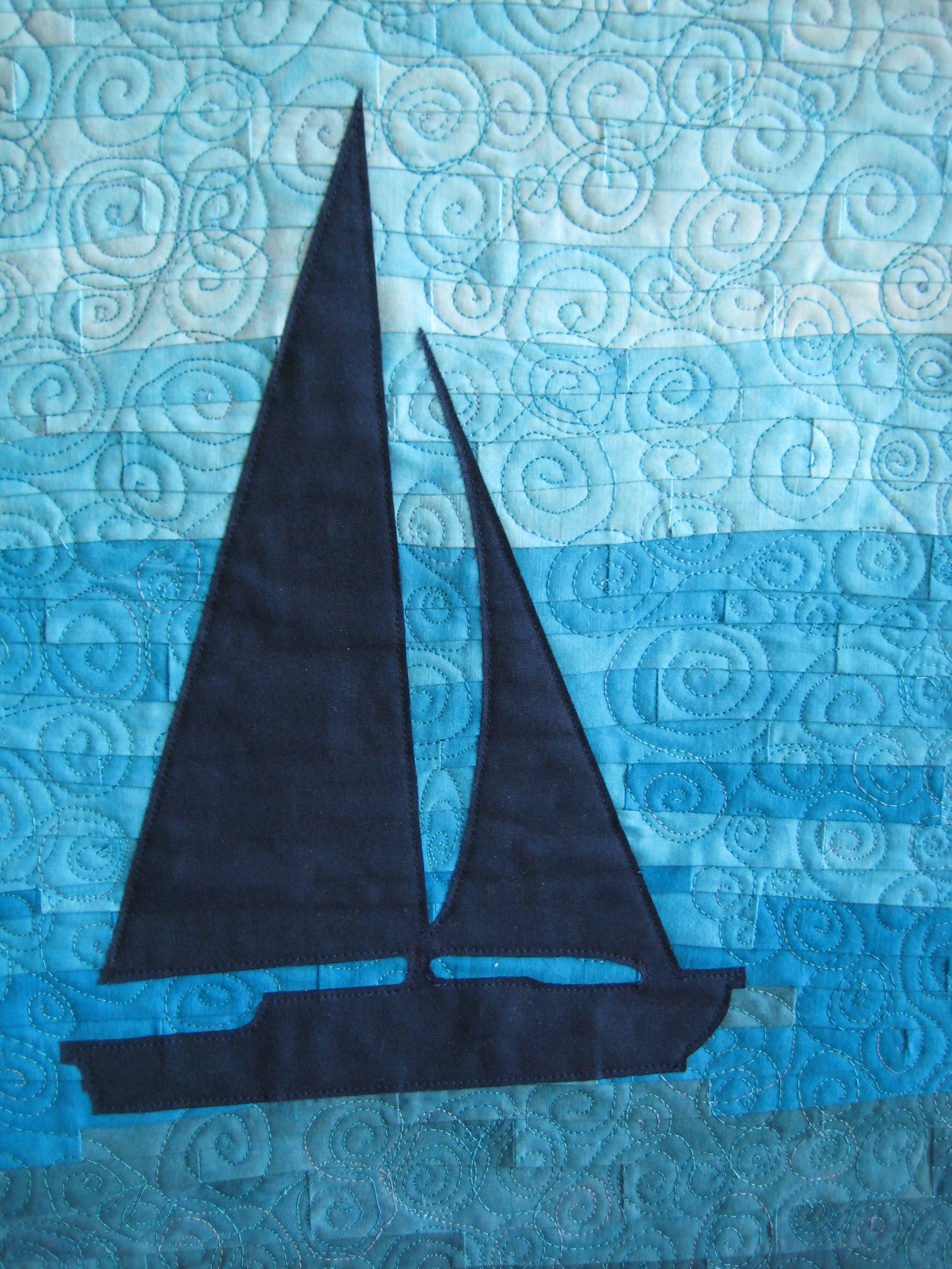 applique sailboat