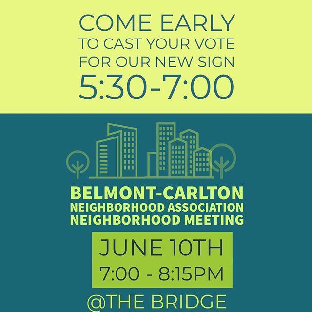 Tonight at @thebridgepai, 5:30p. BCNA meeting to follow at 7p.