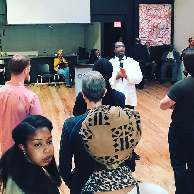 @qeynolabs founder & #CodeOakland film star @priforce launching #teqweek last night in #Oakland. #tech #equity