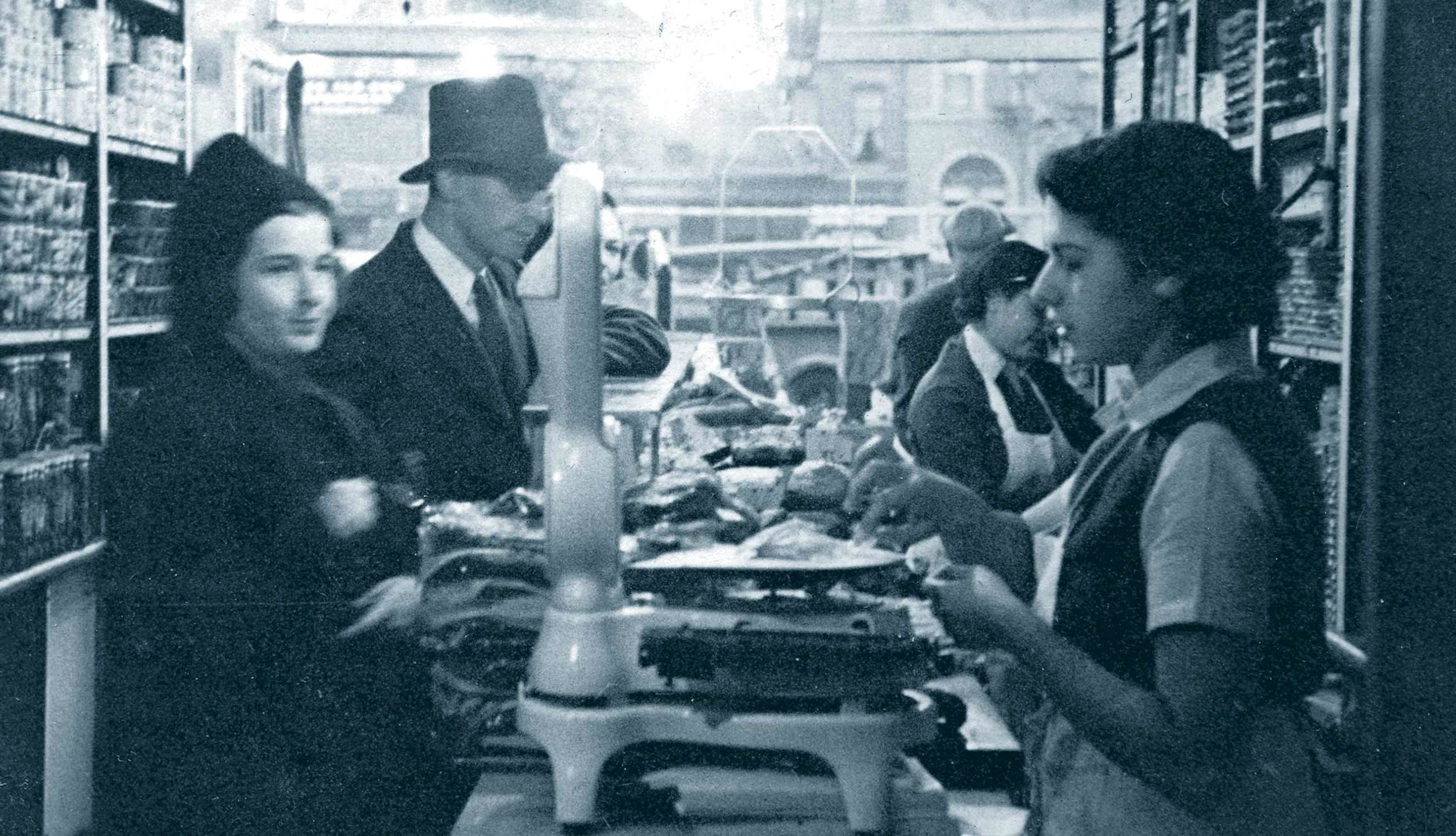 Russ & Daughters historic shop interior 1930s
