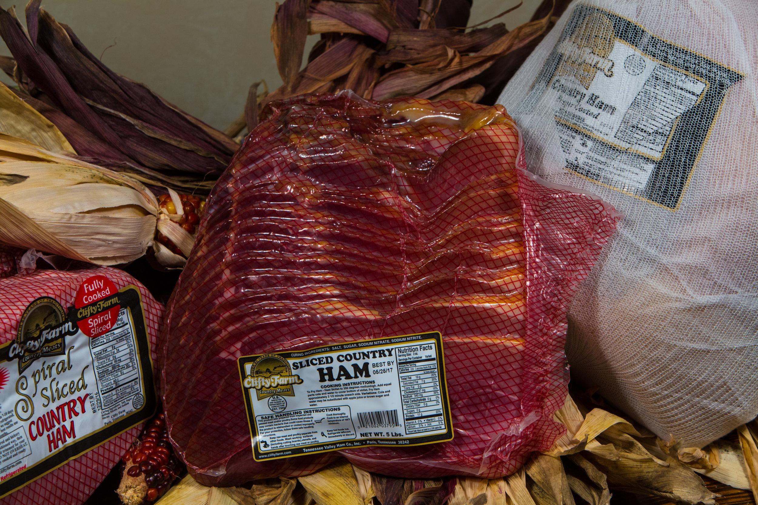 4/5lb Clifty Farm Pre-Sliced Country Ham