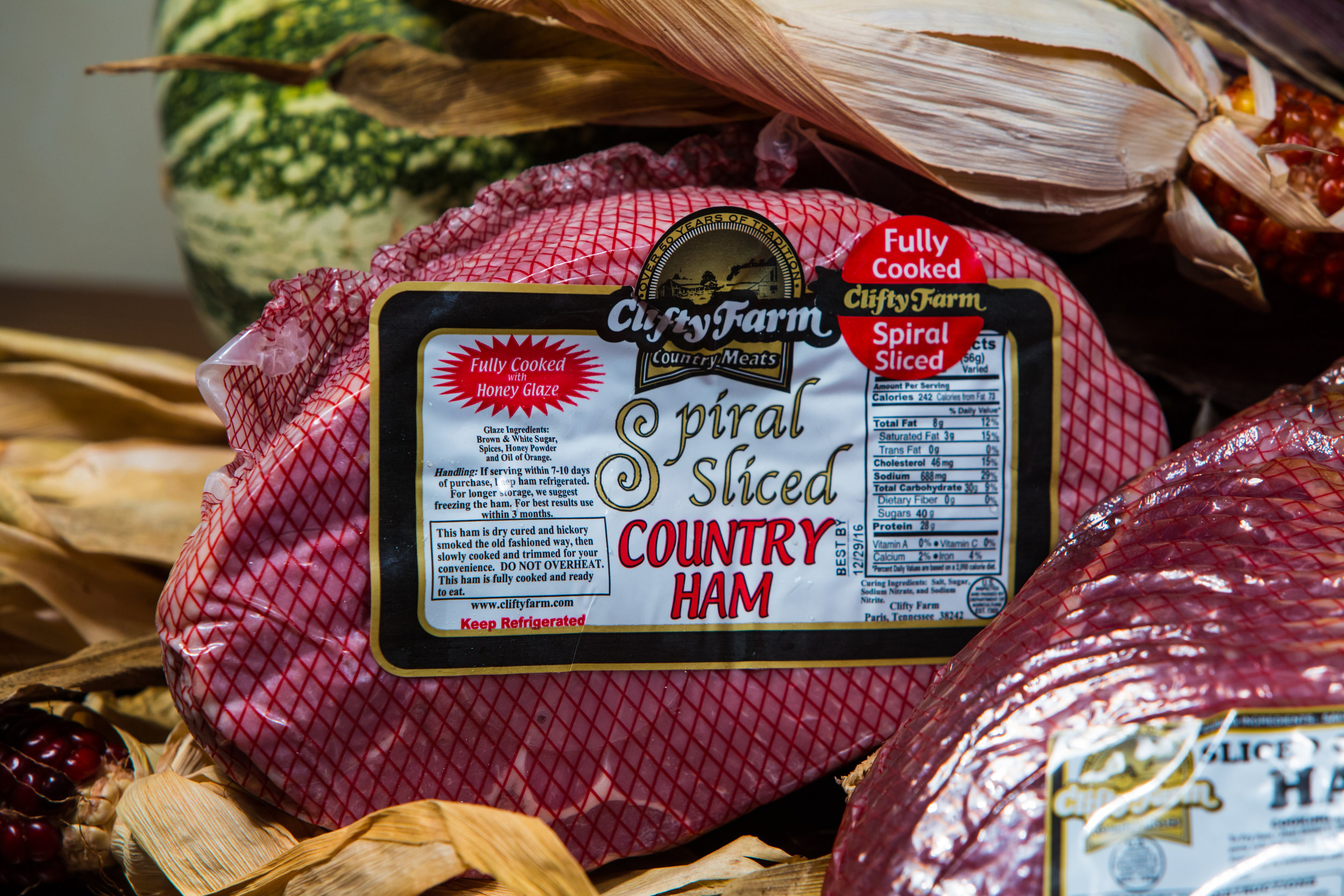 Clifty Farm SPiral Sliced half country ham
