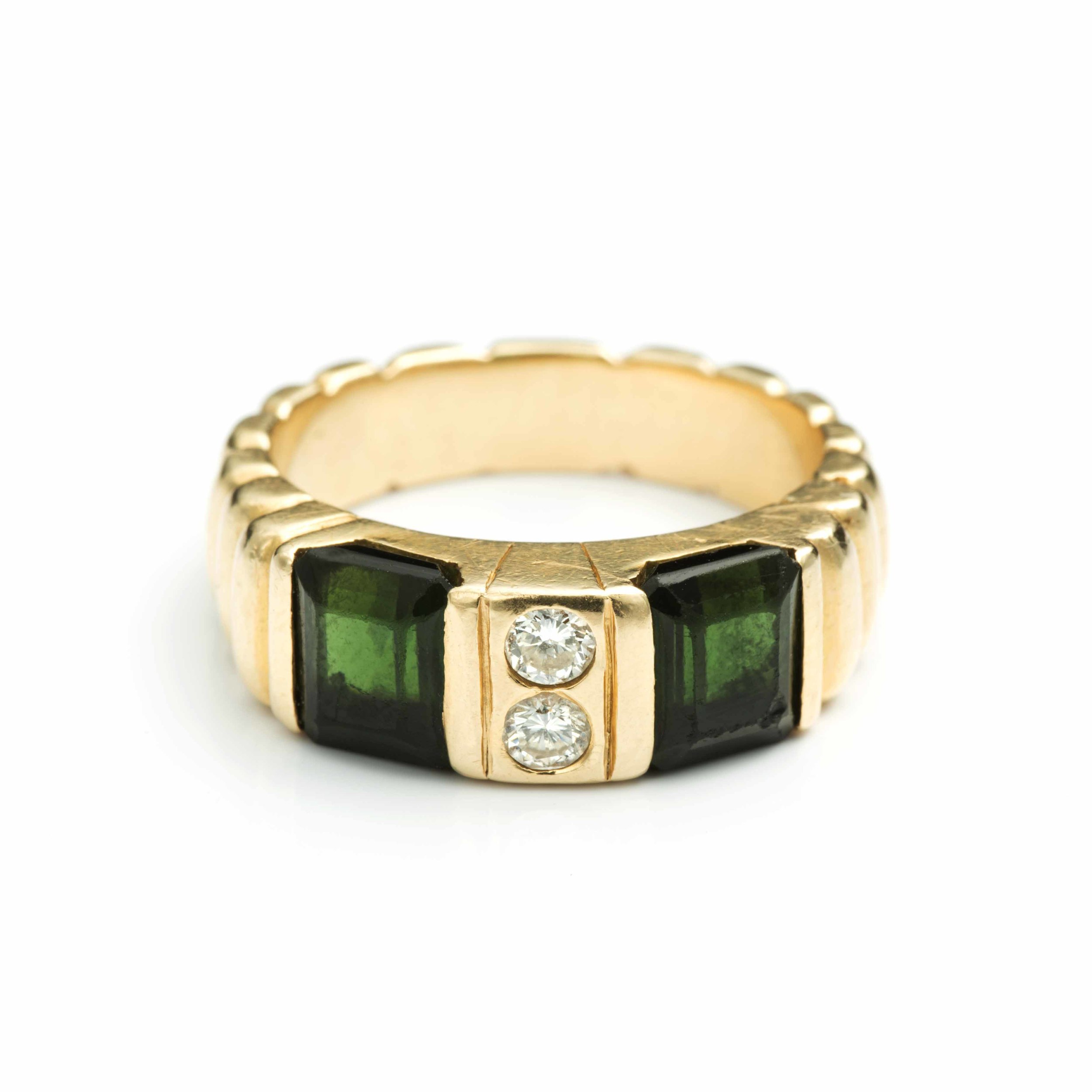 The first piece Kara ever had made – a tourmaline ring when she was 12.