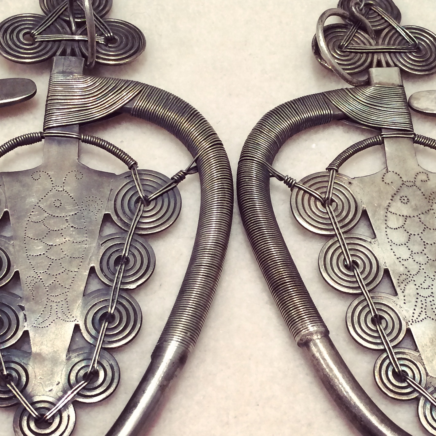 19th C provincial Chinese earrings.