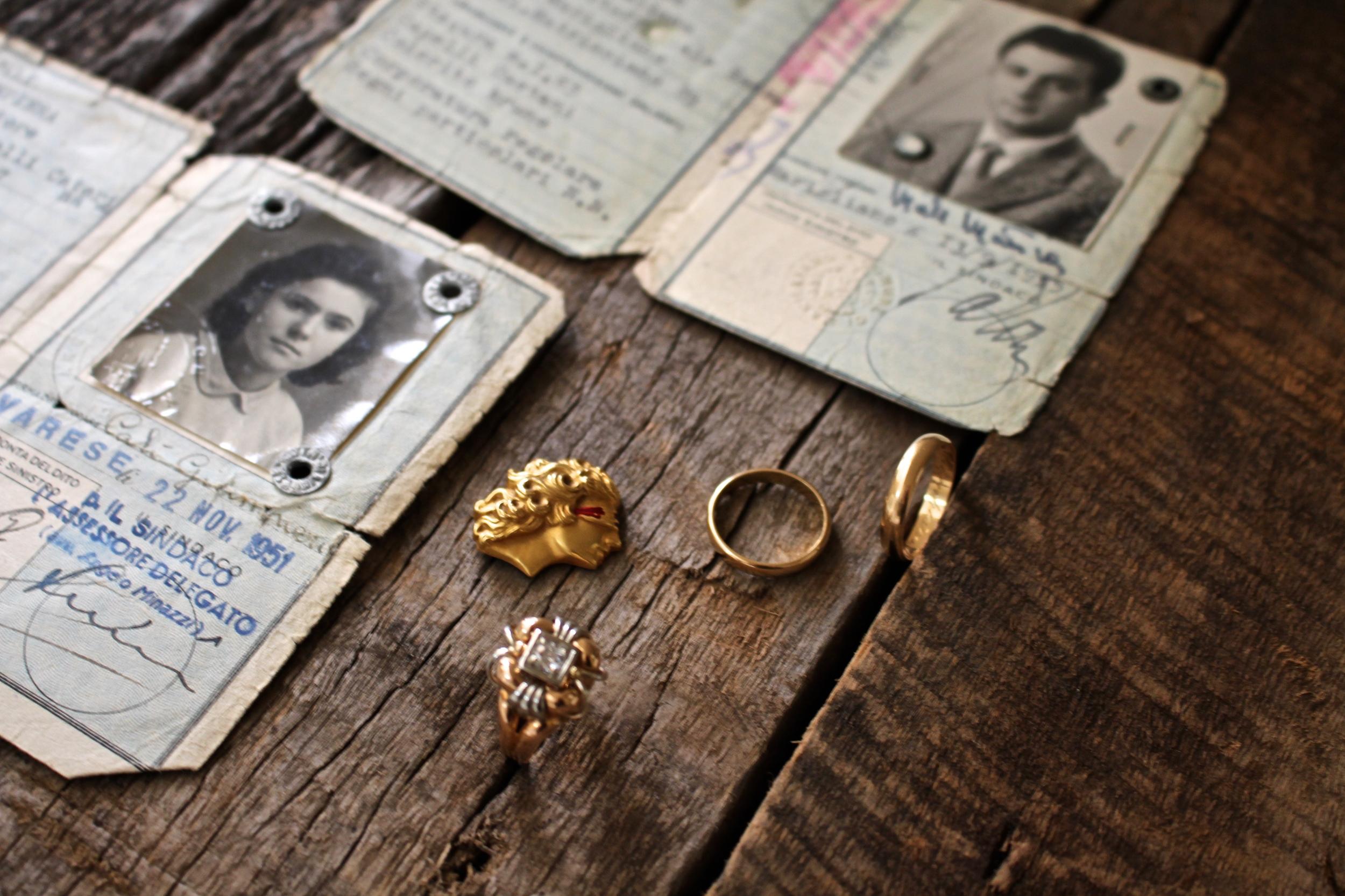 Her grandparents' passports