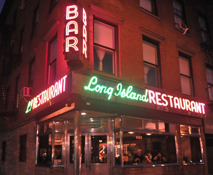 The Long Island Bar on Atlantic Avenue in Cobble Hill, Brooklyn.