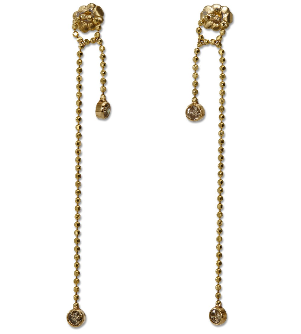 Diamond chain earrings, available at  Just One Eye , $2,180.
