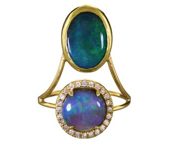 Diamond and opal Galaxy ring, $3,250, available at  Twist .