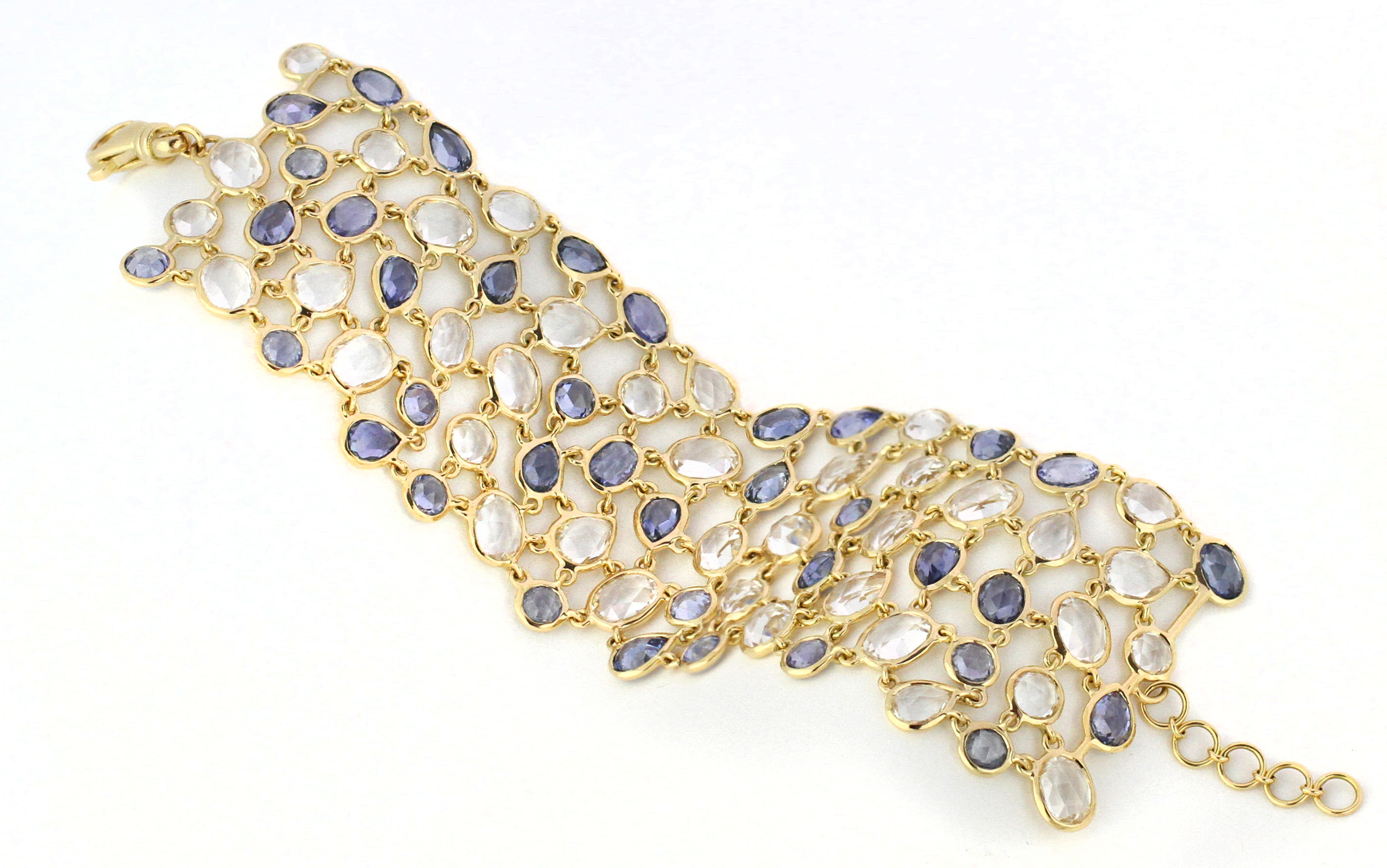45050-blue _Rose-Cut Blue Sapphire and Rock Cyrstal Bracelet.jpg
