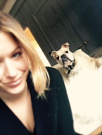 Brooke and the canine sidekick.