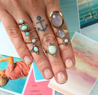 Normal stack of opals, like us, Brooke doesn't mind if she can't bend her fingers.