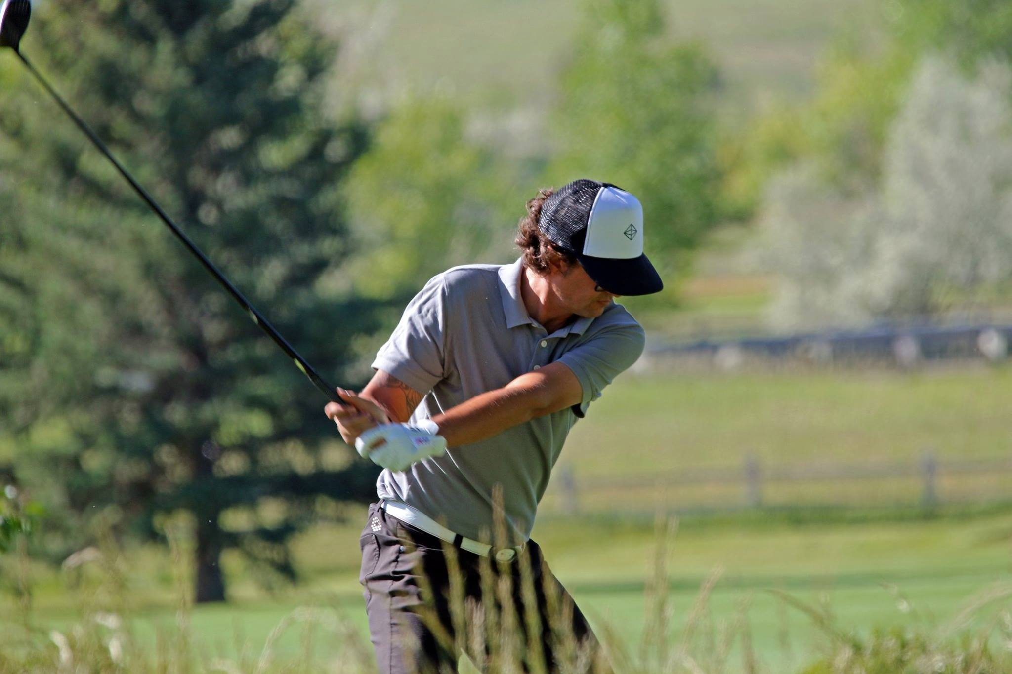 On the links – a favorite pastime.