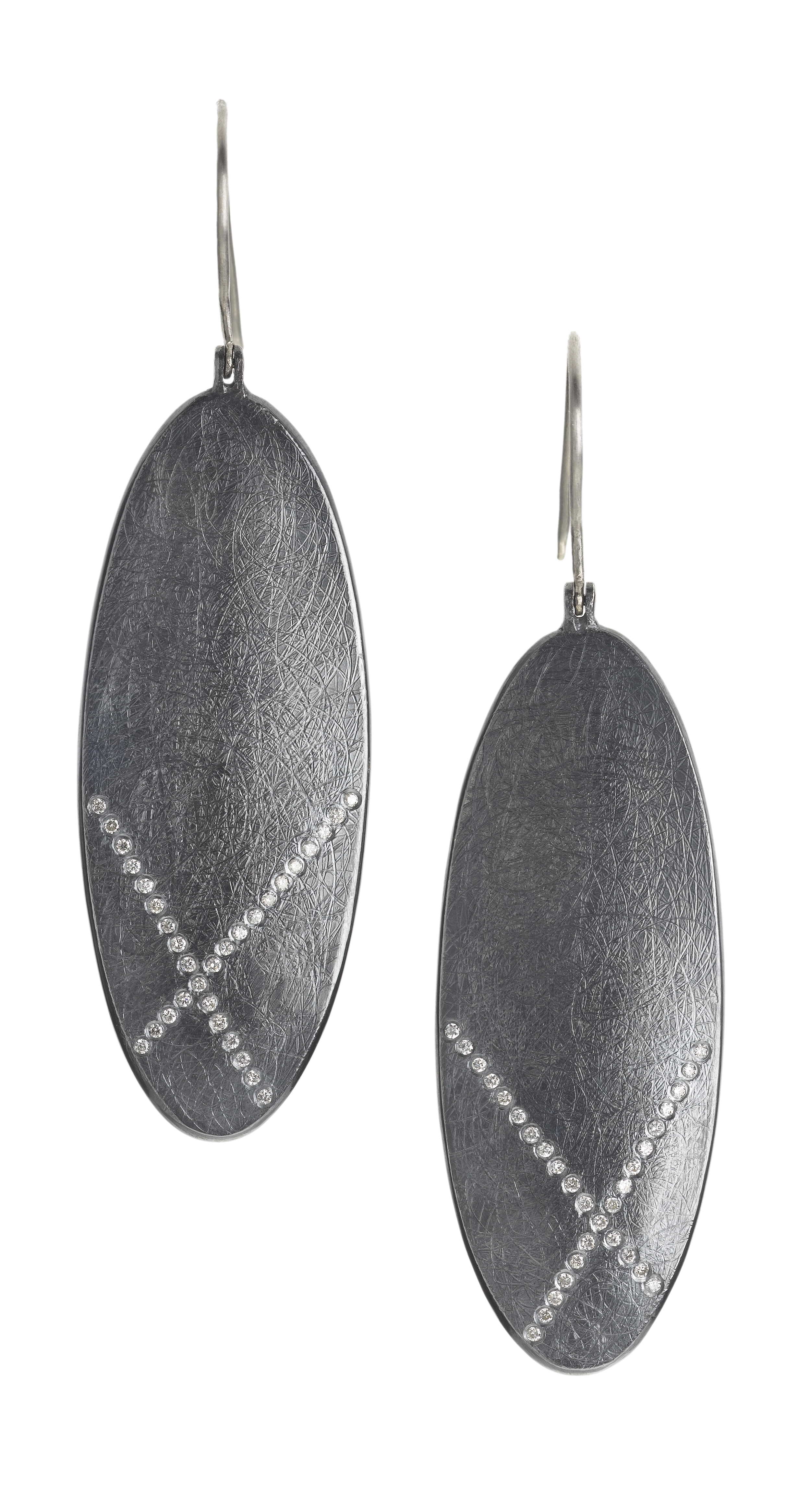 Earrings in sterling silver withwhite brilliant cut diamonds (0.31ctw), $4,070,  available at Todd Reed .