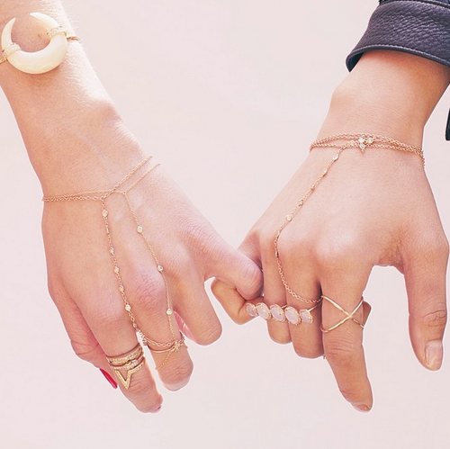 Jacquie Aiche finger bracelets available at  Jaimie Geller