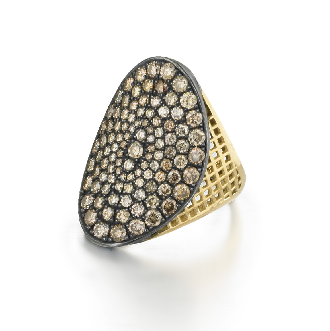 Champagne Diamond Regency Ring.