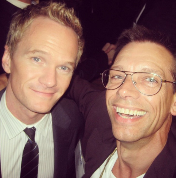 With Neil Patrick Harris.