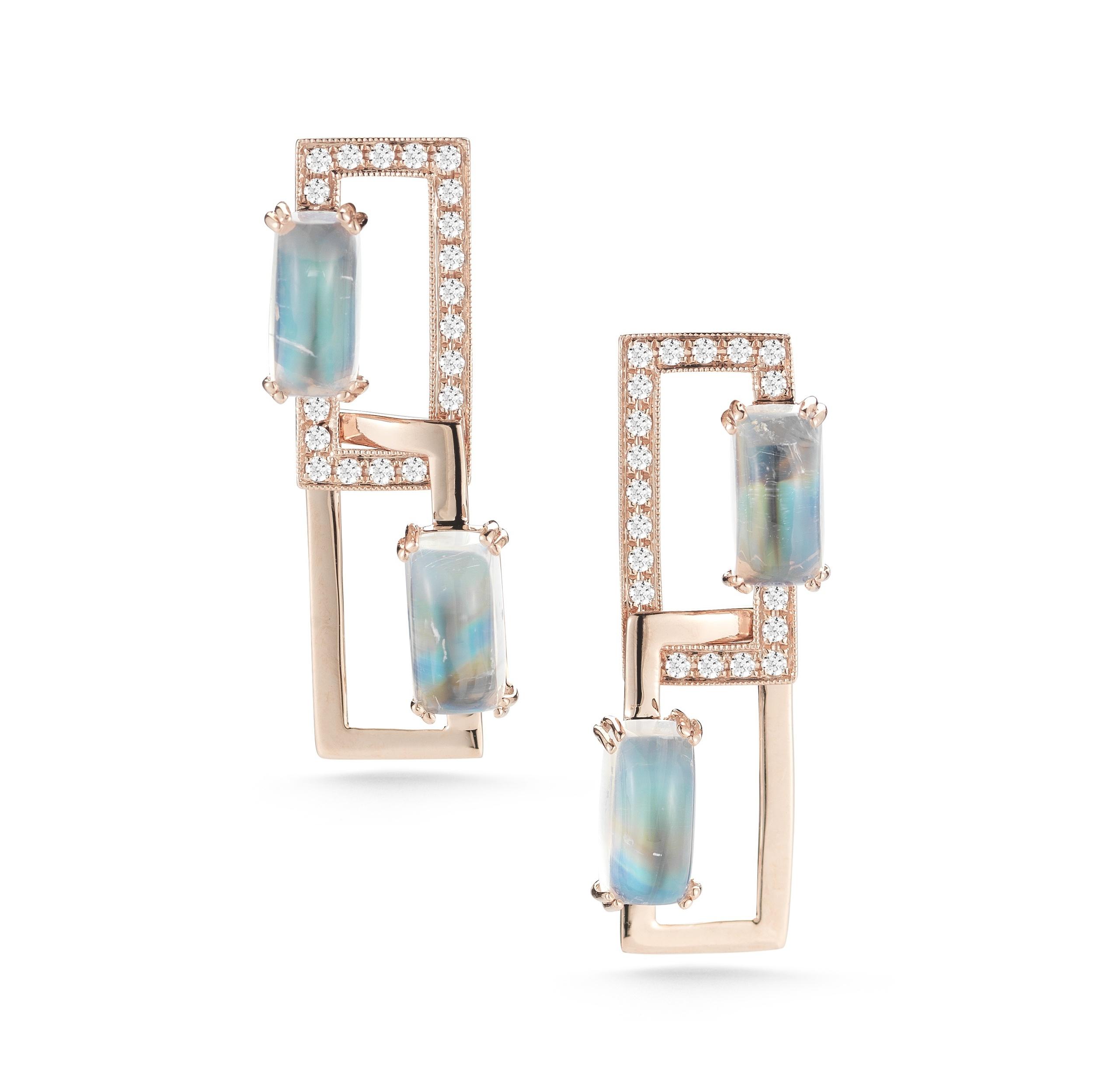 Moonstone earrings, $2,420, available soon!