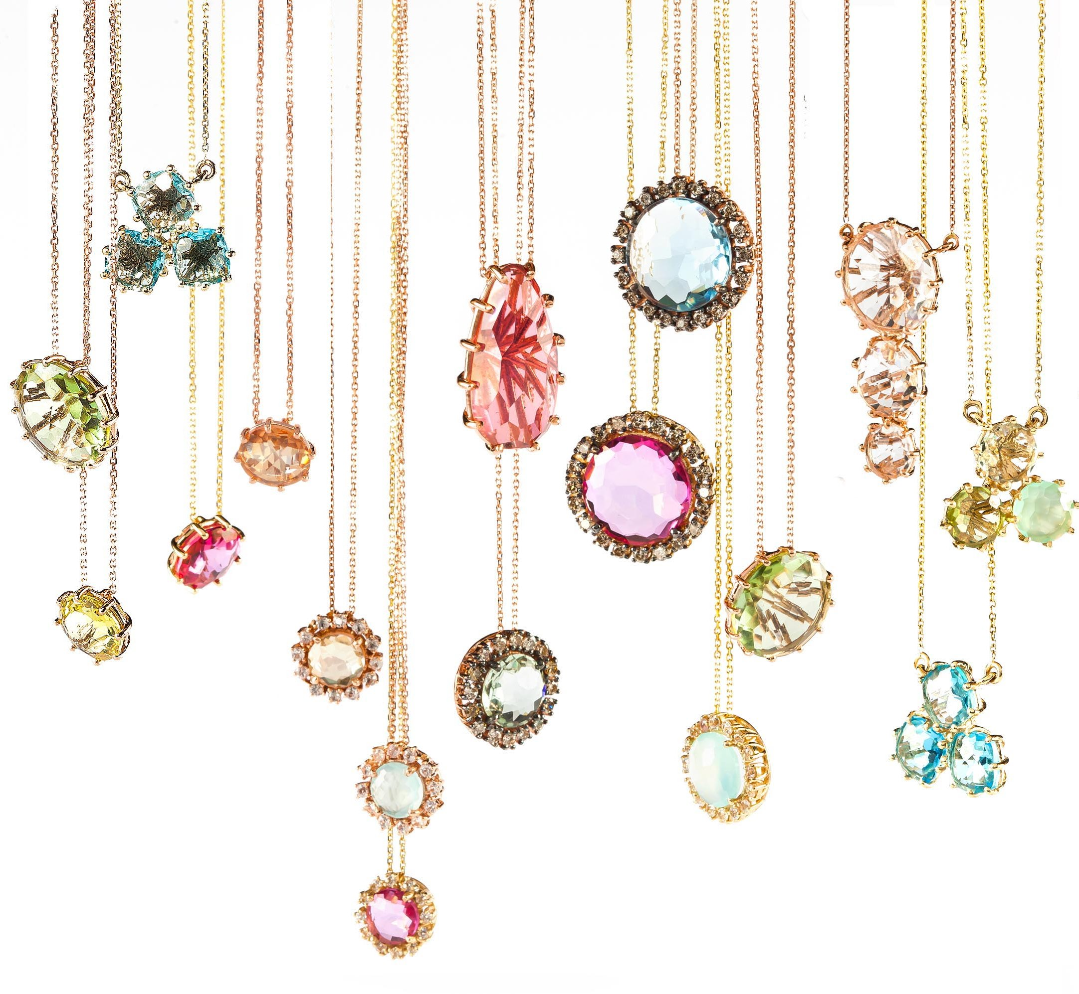 Necklaces from the 14k line, KALAN By Suzanne Kalan.