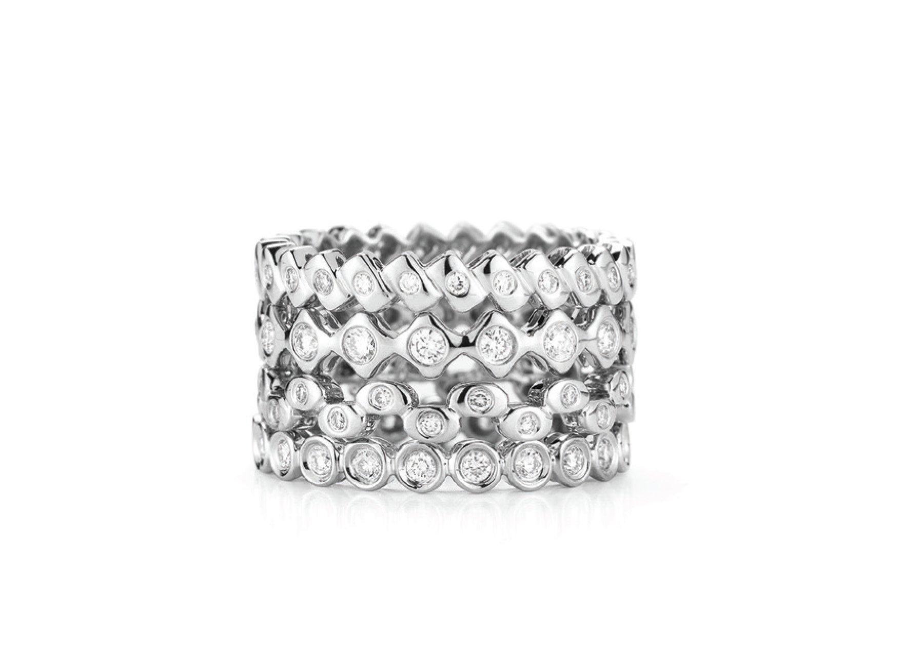 More perfect little diamond eternity bands.