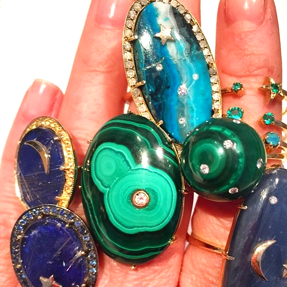 I don't know if you can tell...we like Andrea's  rings ...especially malachite.