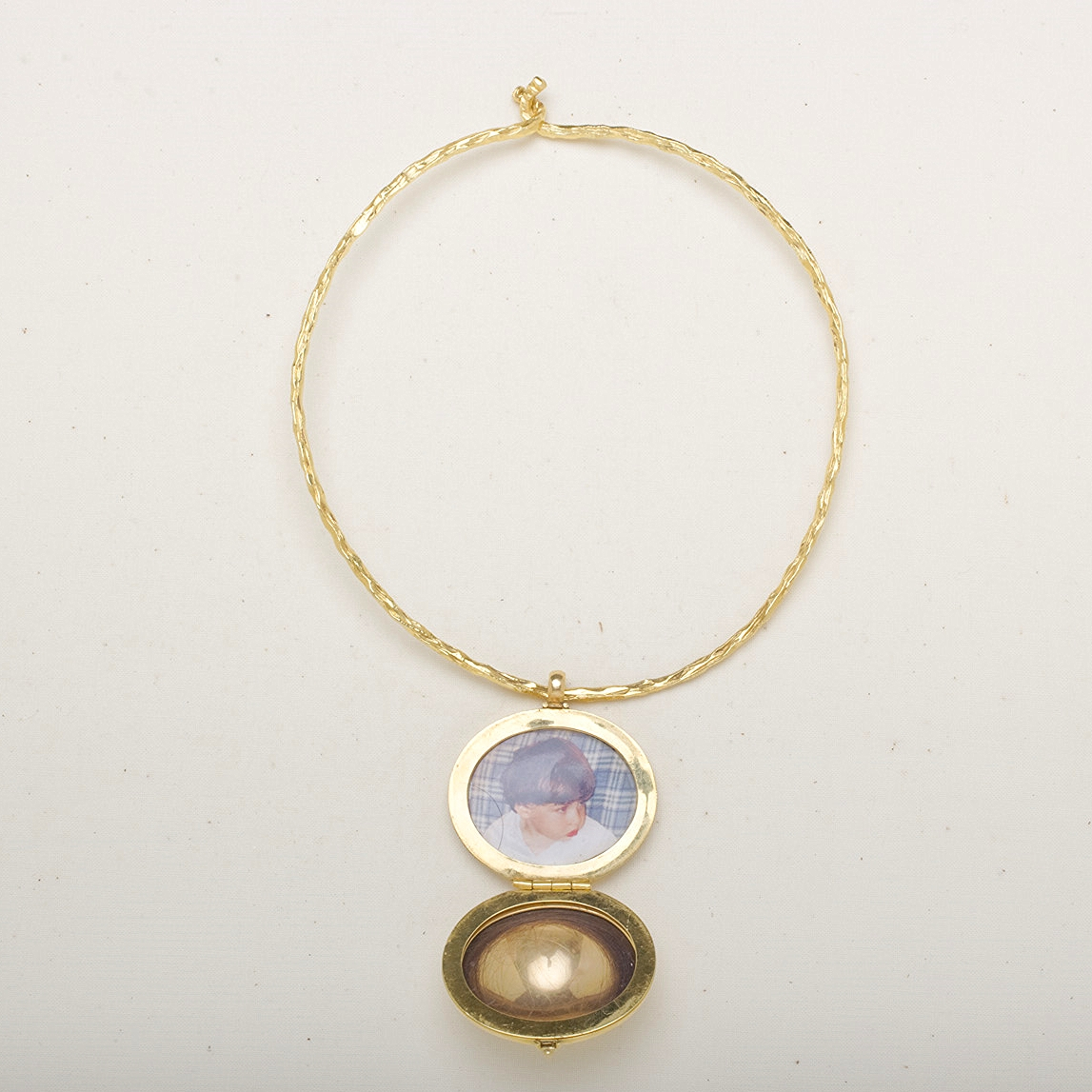 Marla's personal locket, which inspired the birth of her collection.