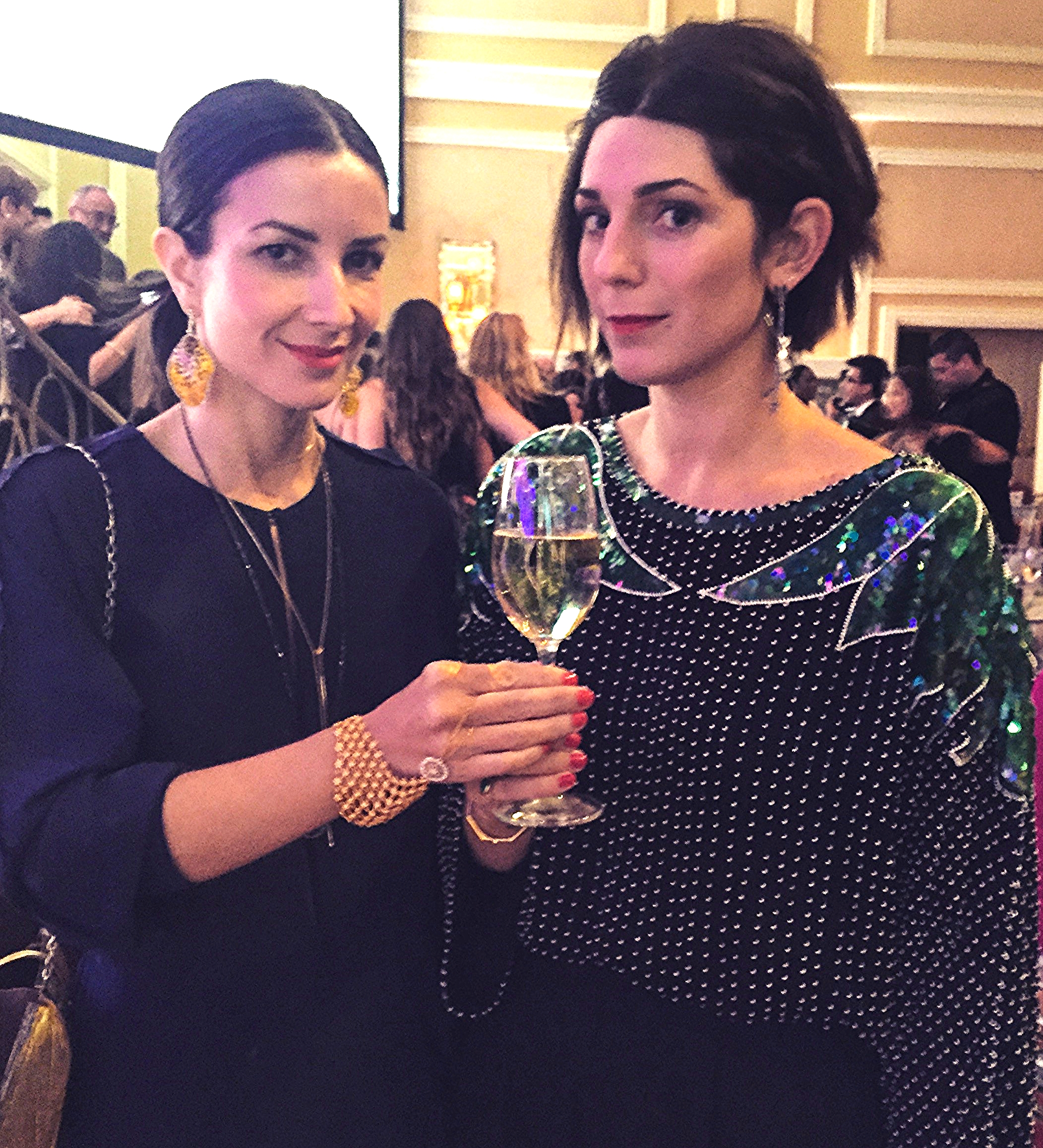 Randi wore Silvia's yellow orchid petal earrings to the 2015 Couture Design Awards. NBD.