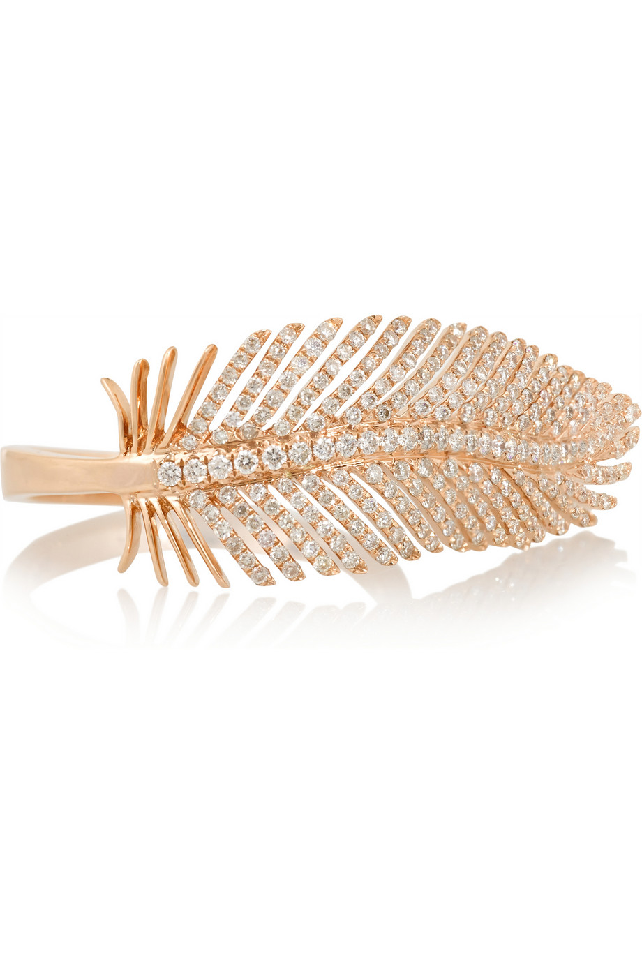 Anita Ko  Feather 18-karat rose gold diamond ring, $5,500,  available at Net-A-Porter.
