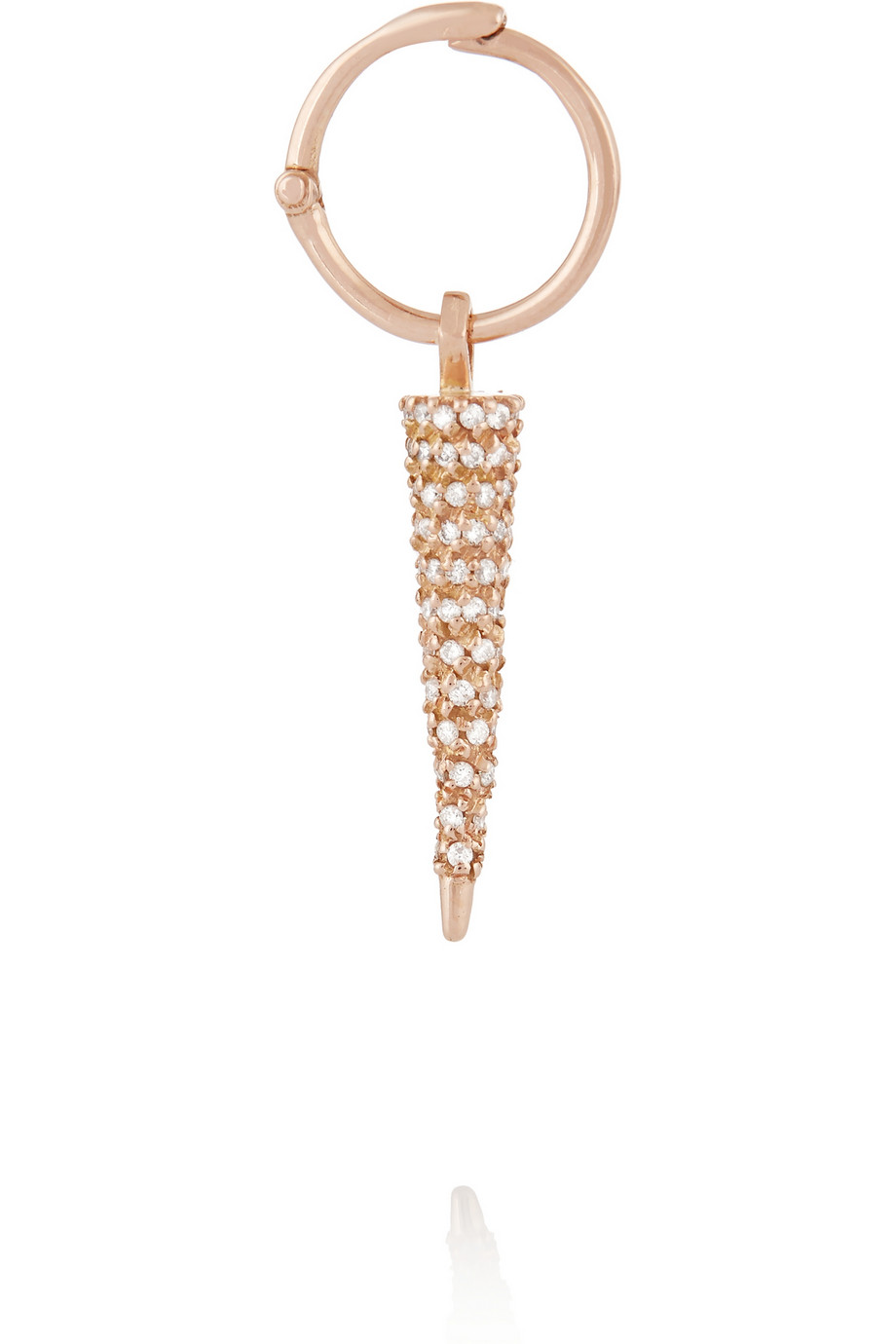 Wendy Nichol  14-karat rose gold diamond earrings, $6,870,  available at Net-A-Porter .