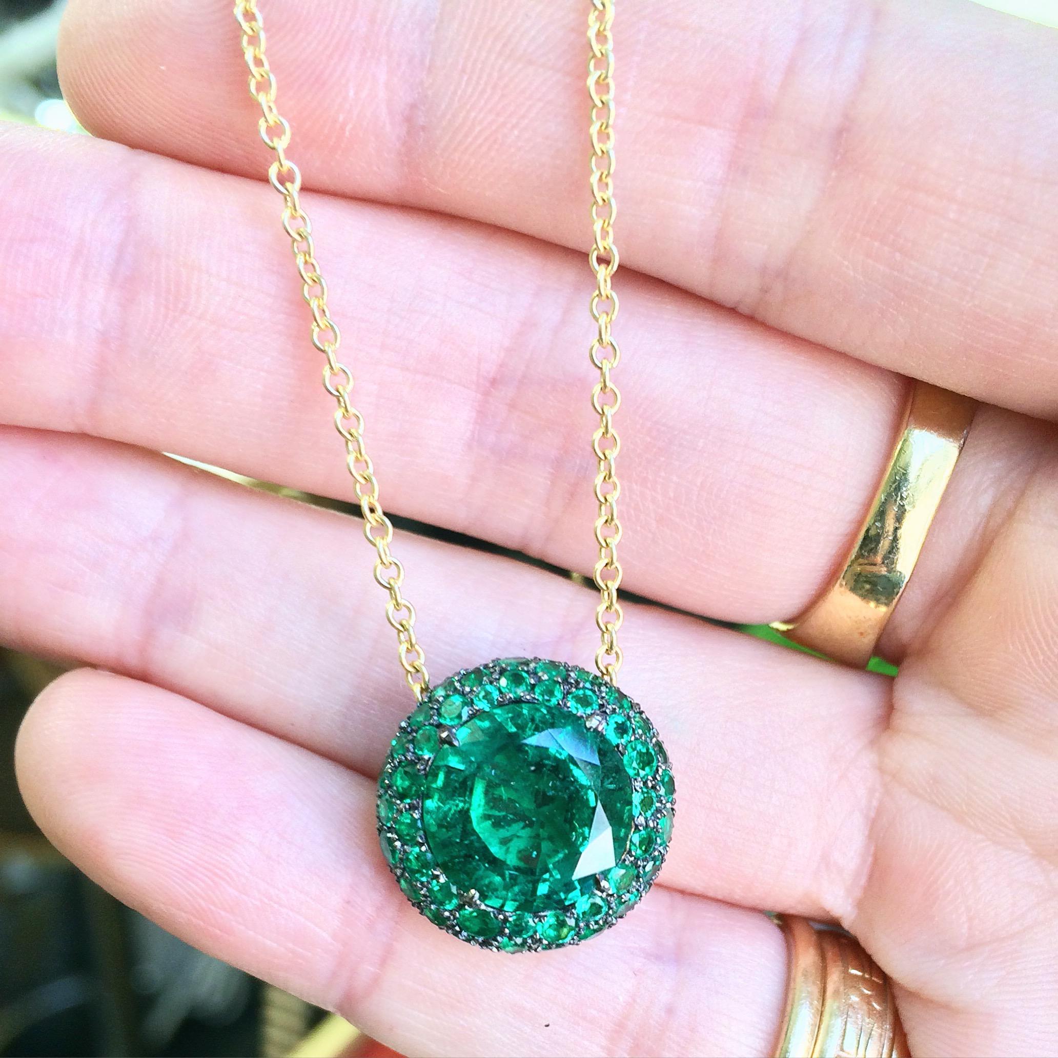 Jane Taylor Jewelry-emerald pave chubby bezel necklace.jpg