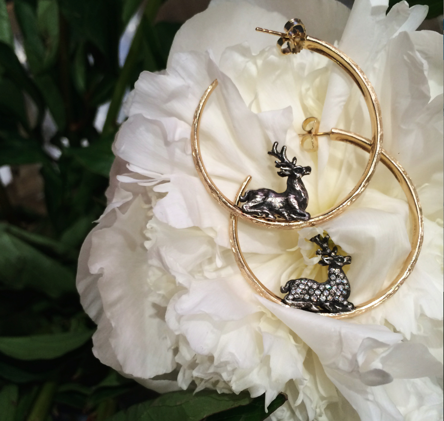 We are obsessed with these deer hoops, available at  Hollis & Co. Jewelers , Monroe, LA.