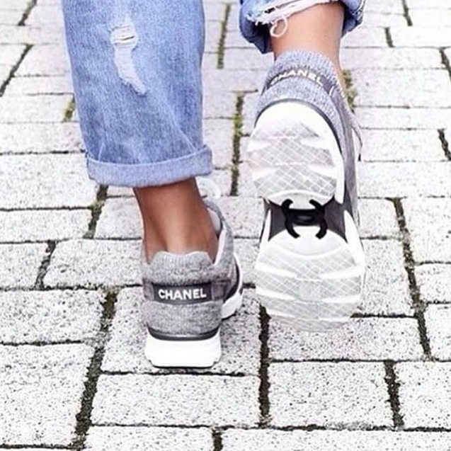 Tania rocking her Chanel sneakers.