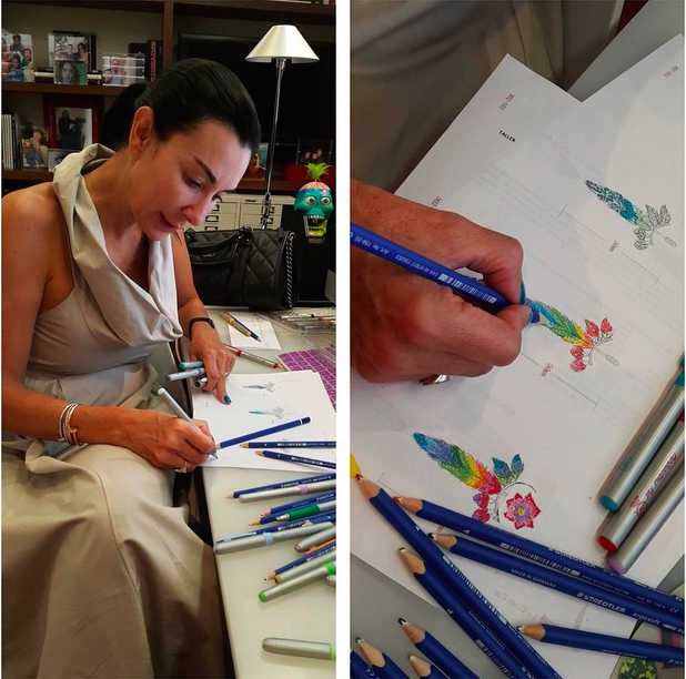 Colette sketching at her studio in Mexico City, one of our favorite cities in the world.