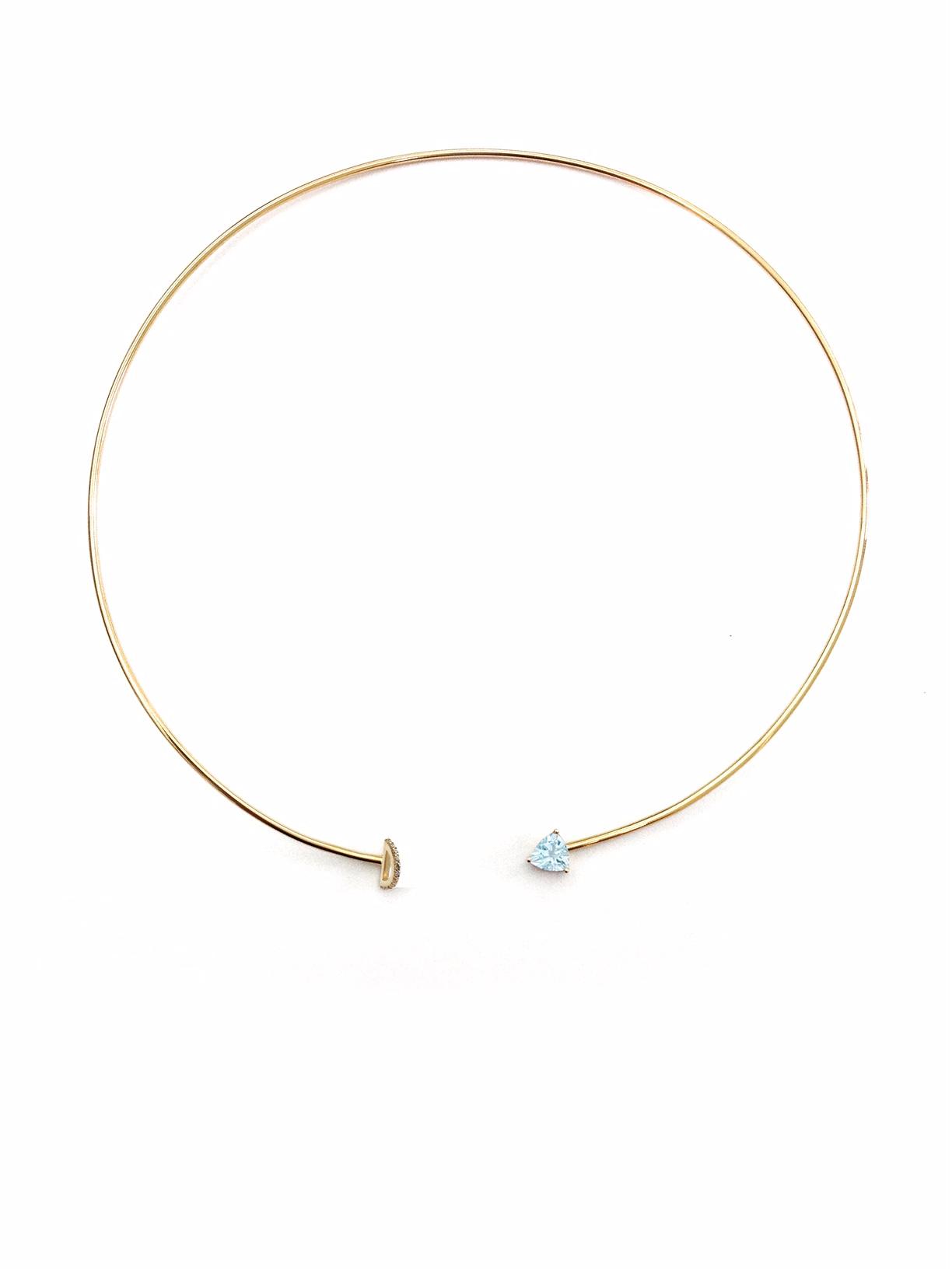 Marta N04200 Collar -Torque with Half circle pave-YG-AQ.jpg