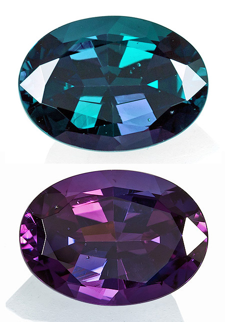 Variations in color-change Alexandrite, Talya's current must-have stone.