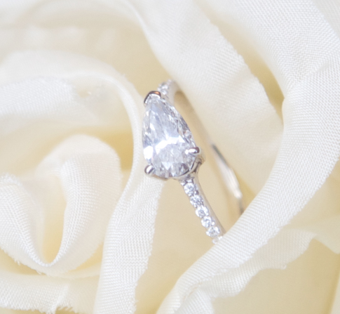 Talya's gorgeous Sharon Khazzam-designed engagement ring.