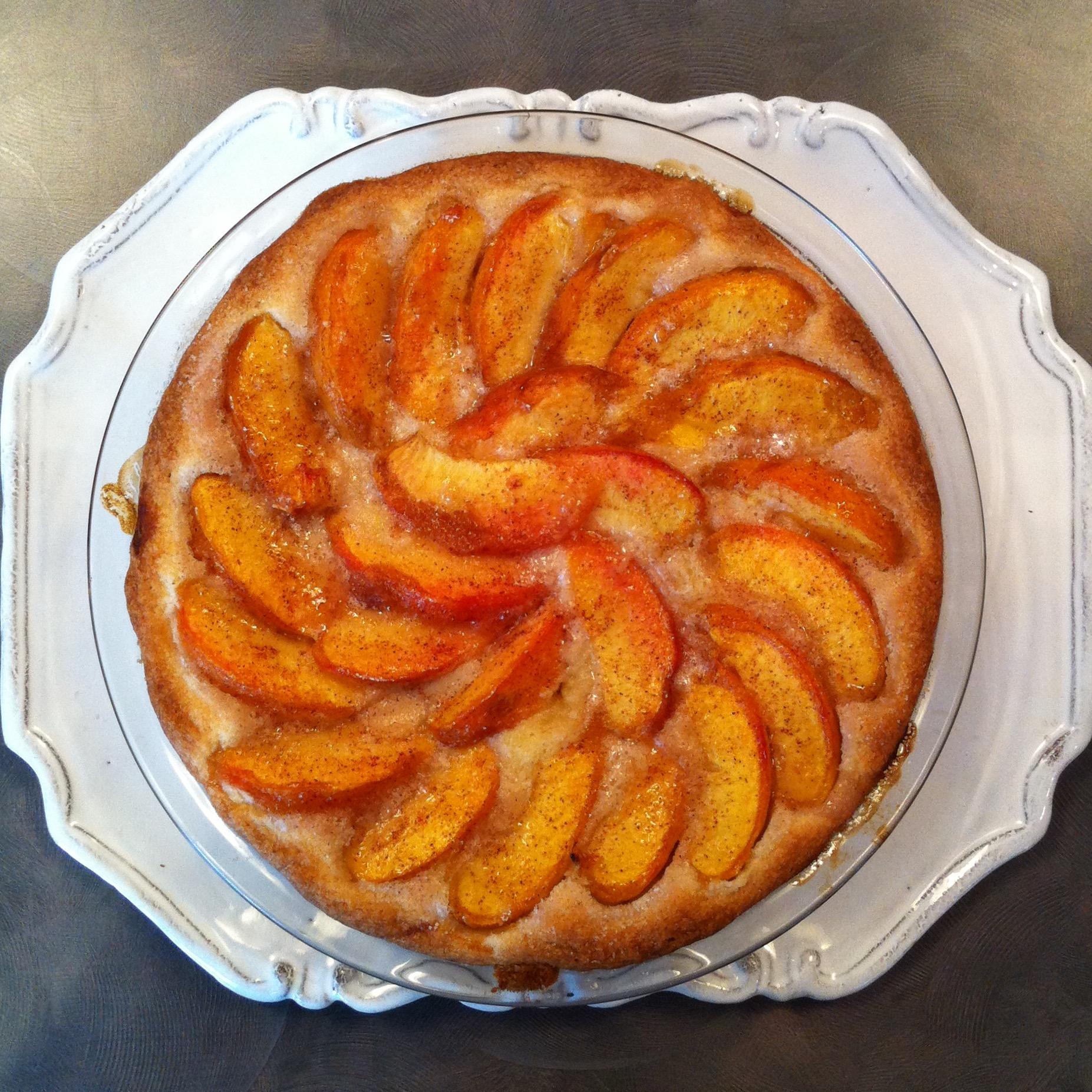 The top secret peach cake. Gimme.