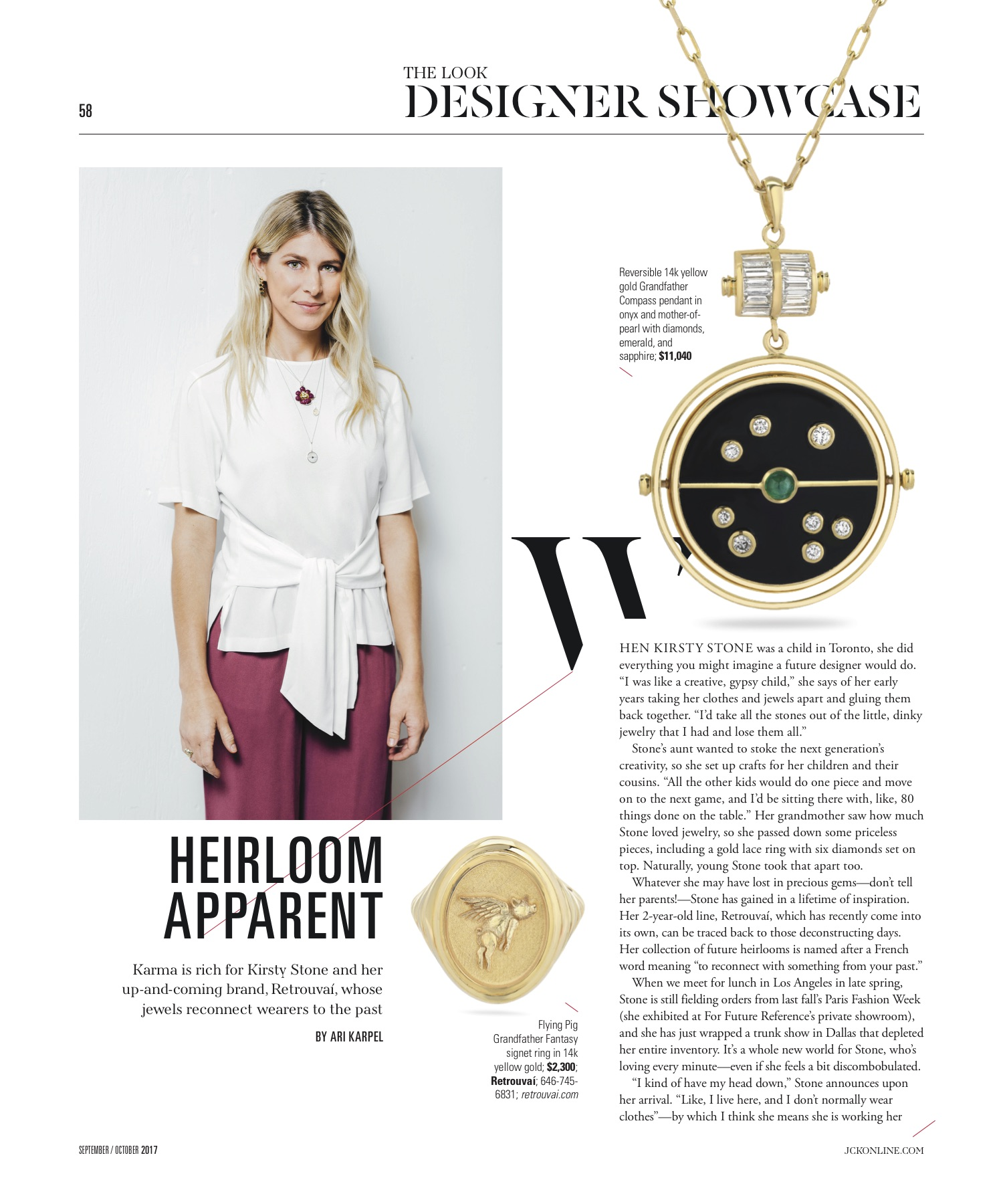 Designer Showcase ft. Retrouvai in JCK Sept/Oct 2017