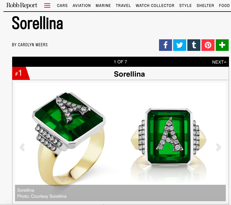 Sorellina on Robb Report