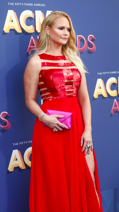 Miranda Lambert decked out in our designers at the ACM Awards 2018